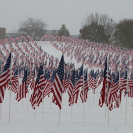 Rotary Hill Closed for Sledding; Healing Field Flag Takedown Postponed Due to Snow