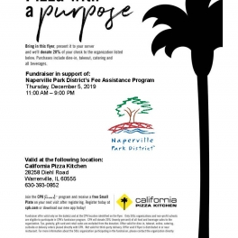 Pizza for a Purpose - Support the Fee Assistance Program Dec. 5